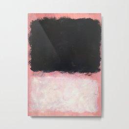 Mark Rothko - Untitled - Pink and Black Artwork Metal Print