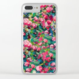 Rose Romance Pattern Clear iPhone Case