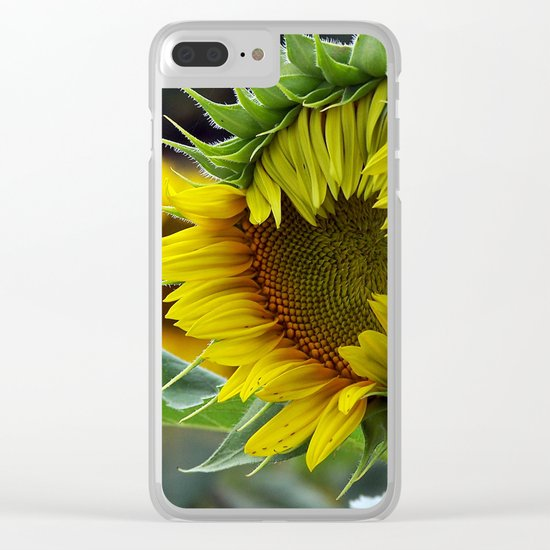 Sunflower Unfolds Clear iPhone Case