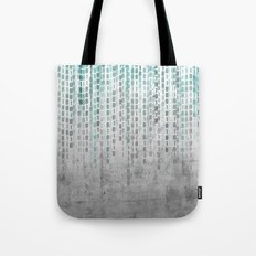 Concrete Binary Code Tote Bag