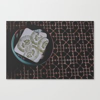coasters Canvas Prints featuring coasters by Rae Snyder