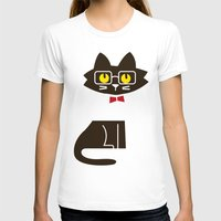preppy T-shirts featuring Fitz - Preppy cat by Picomodi