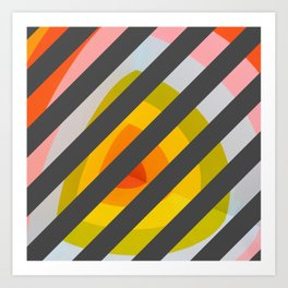 Unleash Color - Rainbow Geometric Pattern Art Print