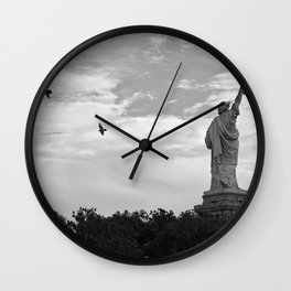 Black and White American Scene Wall Clock