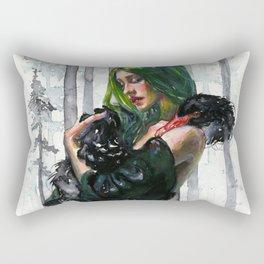 Black Swan Feelings Rectangular Pillow