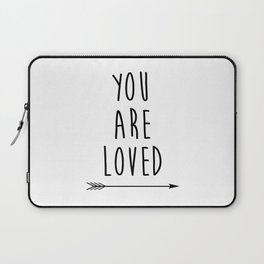 You Are Loved Printable Art, Nursery Art, Black and White Art, Arrow Art, You are So Loved Word Art, Laptop Sleeve
