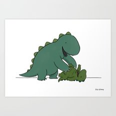 Tickle Monster  Art Print