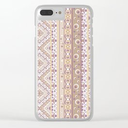 Tribal ornament Clear iPhone Case