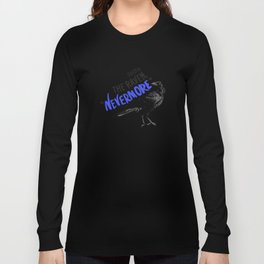 Nevermore Raven - Yellow Long Sleeve T-shirt