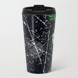 Abstract Black and White Etching Design Travel Mug