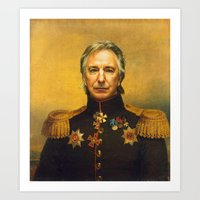 replaceface Art Prints featuring Alan Rickman - replaceface by replaceface