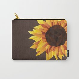 Polygonal Sunflower Carry-All Pouch