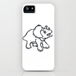Baby dinosaur iPhone Case