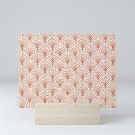 Art Deco Palm Pattern in Rose Gold Mini Art Print