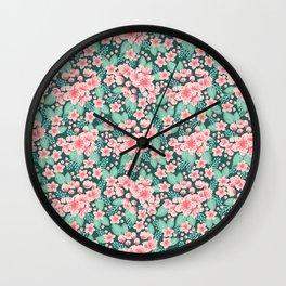 Cherry Blossom spring summer boho floral flower gardening nature botanical nature flowers florals Wall Clock