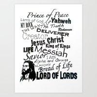 jesus Art Prints featuring Jesus by Taylor Tucker