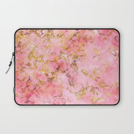 Raspberry Kiss - Pink Gold Marble Laptop Sleeve