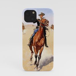 """""""The Trooper"""" Western Art by Frederick Remington iPhone Case"""