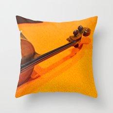 Violin on the Floor Throw Pillow