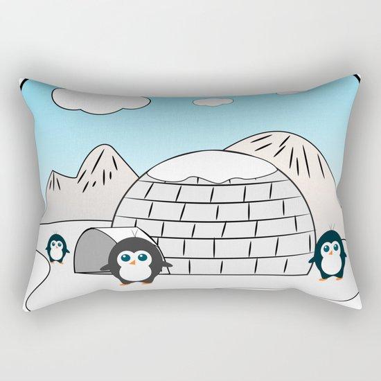 Cute penguins Rectangular Pillow