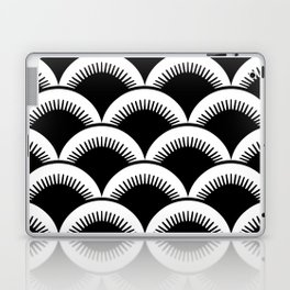 Japanese Fish Scales Black and White Laptop & iPad Skin