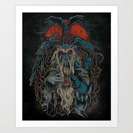 Nicodemus & The Rats of the Rosebush  Art Print