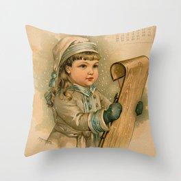 Canadian Girl Maud Humphrey Throw Pillow