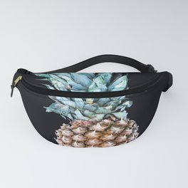 Pineapple On A Black Background #decor #society6 Fanny Pack