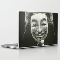 rock Laptop & iPad Skins featuring Anonymous by Dr. Lukas Brezak