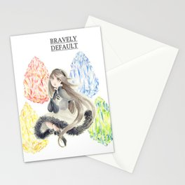 Bravely Default Agnes & Crystals Watercolor Stationery Cards
