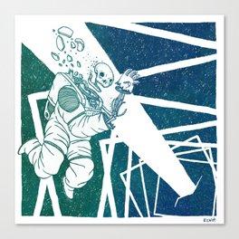 High-Concept Interstellar Journey Canvas Print