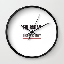 Grey's Day Wall Clock