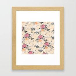 ombre floral - all Framed Art Print