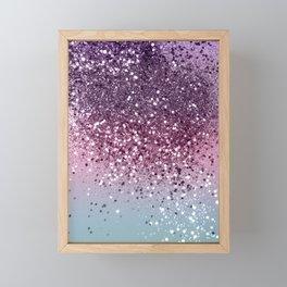 Unicorn Girls Glitter #6 #shiny #pastel #decor #art #society6 Framed Mini Art Print