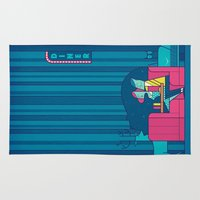 50s Area & Throw Rugs featuring Diner by Ale Giorgini