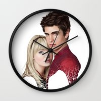 garfield Wall Clocks featuring THE AMAZING SPIDER-MAN by FISHNONES