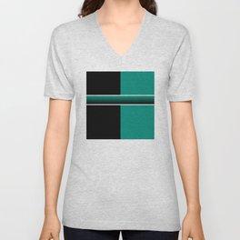 Team Colors 6...Teal, black Unisex V-Neck