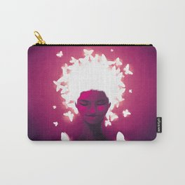 Luminescent Fuchsia Carry-All Pouch