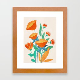 Summer Flowers I Framed Art Print