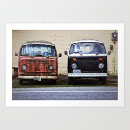 Pink and Black Vans Art Print