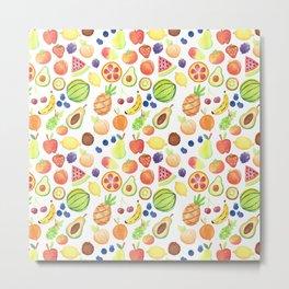 Fruits Pattern Metal Print