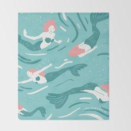 Mermaids Throw Blanket