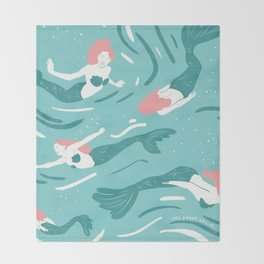 Mermaids Throw Blanket