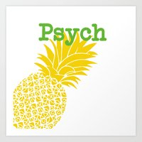 psych Art Prints featuring Minimalist Psych  by Canis Picta