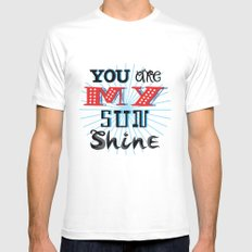 You Are My Sunshine White Mens Fitted Tee MEDIUM
