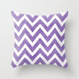 purple chevron Throw Pillow