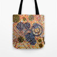 milan Tote Bags featuring bombing Milan by Federico Cortese