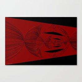Red Black Canvas Print