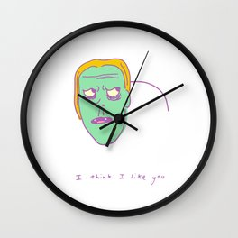 I Think I Like You Wall Clock