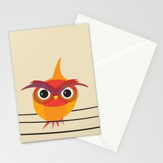 Owl On A Wire Stationery Cards